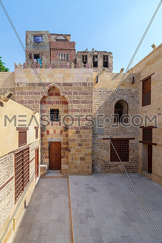 Exterior facade of Mosque of Tekkeyet Al Bustami, Dar El Labbana district, Cairo, Egypt