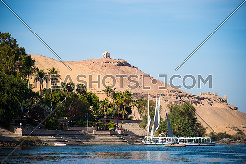 River Nile in Aswan egypt