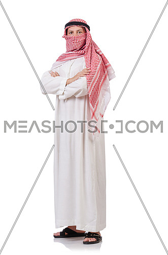 Bedouin isolated on white