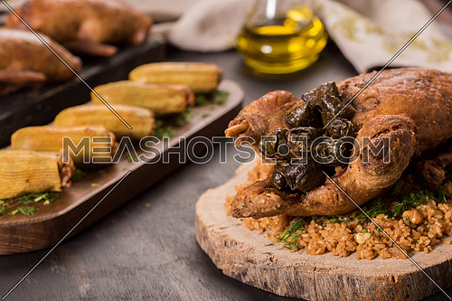 Oriental Roasted Duck Meal with Mahshy and stuffed food