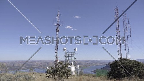 Scene of African communication towers near Hartbeespoort