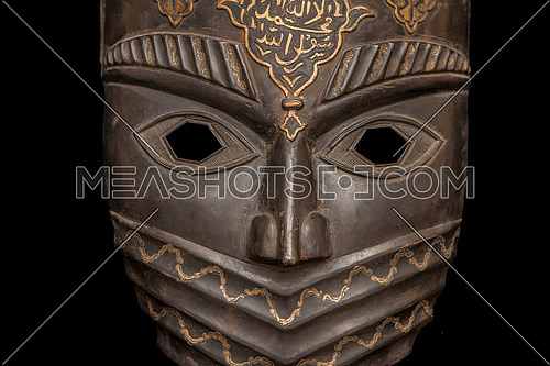 Metal mask isolated on black