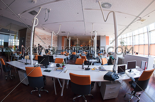 Group of Startup business people working everyday job at busy coworking office space
