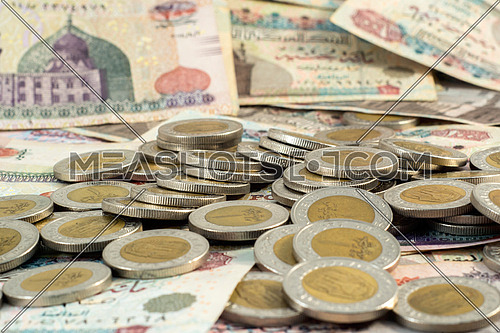 coins on cash