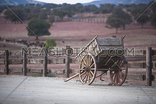 Vintage Carriage of wood, Andalusia, Spain