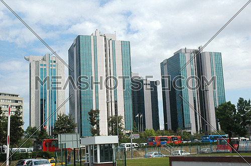 Skyscrapers in downtown area of turkish capital Istanbul