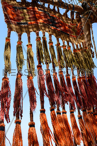 In the picture a typical Bedouin ornament before entering into their tent .