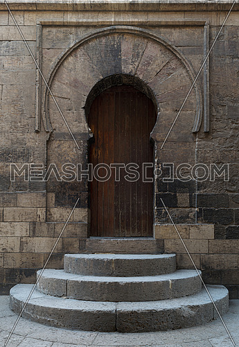 The door leading to the minaret of Ibn Tulun Mosque, the largest mosque in Cairo, Egypt