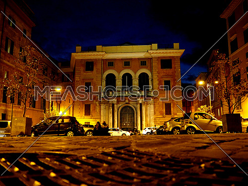 Piazza della Pilotta in  the night