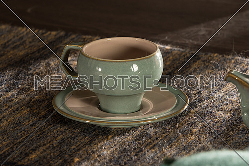 empty tea cup on a plate