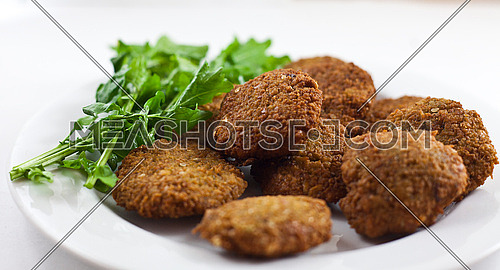 this is a shot for Egyptian falafel  (taameia ) ... egyptian breakfast