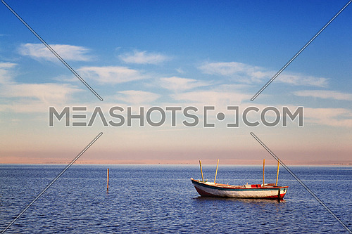 Fishing boat in a Lake