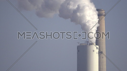 Detail of a smoke stack of a massive power plant