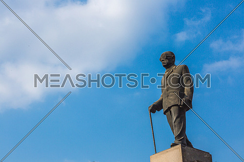 Side shot for Naguib Mahfouz Statue at Cairo at Day