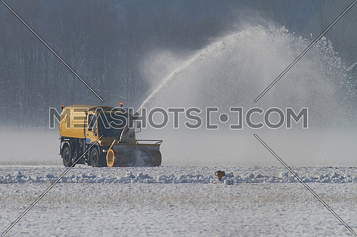 Snow removal at airfield