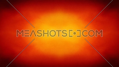 Animated loopable 4K abstract colorful background with grunge noise texture and vivid radial color gradient of red, orange and yellow