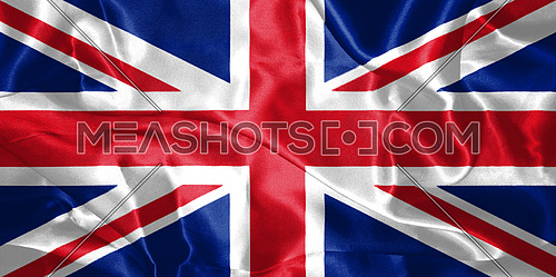Great Britain Flag Blown in the Wind 3D illustration