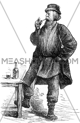 The worker, vintage engraved illustration. Journal des Voyage, Travel Journal, (1879-80).