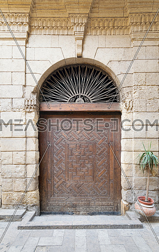 Door leading to Bayt Al-Suhaymi, an old Ottoman era house in Cairo, Egypt, built in 1648 along Darb al-Asfar