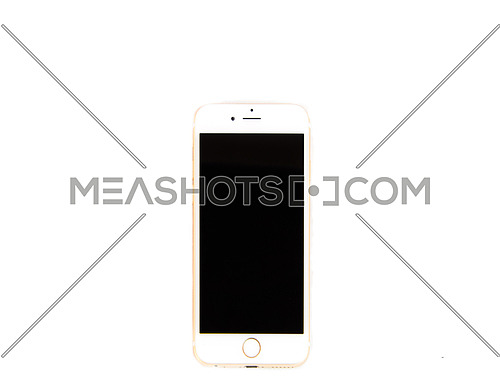 A smart phone isolated on white and black screen
