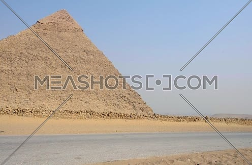 Pan right shot for the three Pyramids at day