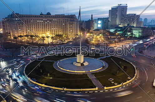 Track Right Shot for Tahrir Square from Day to Night
