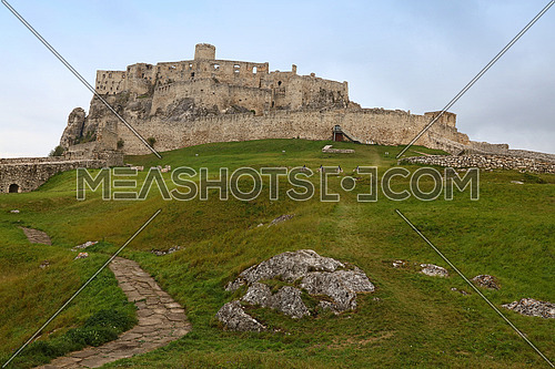 Spissky hrad or Spis Castle ruins in Slovakia