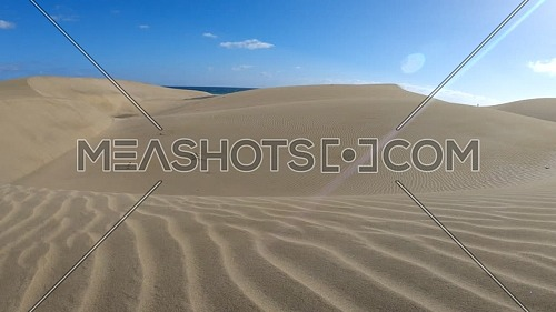 Windy Sand Desert by the ocean in Gran Canaria, Maspalomas