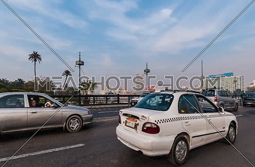 Track Right Shot for inside Qasr Al Nile Bridge at Day