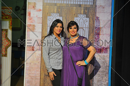 Egyptian belly dancer Vivi Abdo and her doughter azaa megahed in the last play haret el aoalem