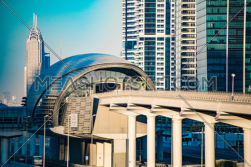 Jumeirah Lake Towers Metro Station Dubai,  18 December 2015