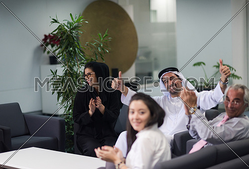 business people group have meeting  in modern office interior