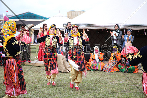 A Traditional Central Asian dance in the