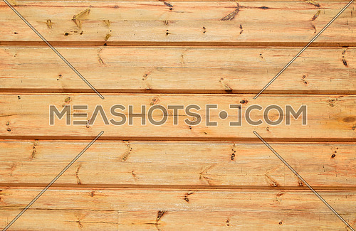 Unpainted lacquered pine wooden planks and bars wall texture