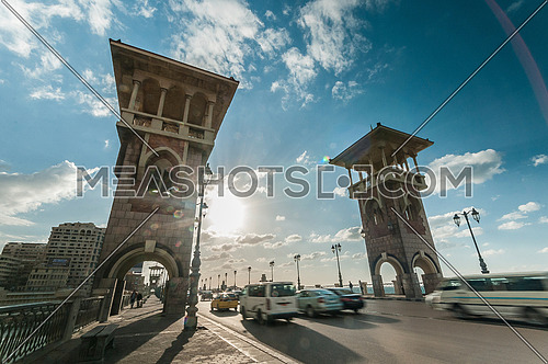 low angel shot for Stanly Bridge Towers at Alexandria at day