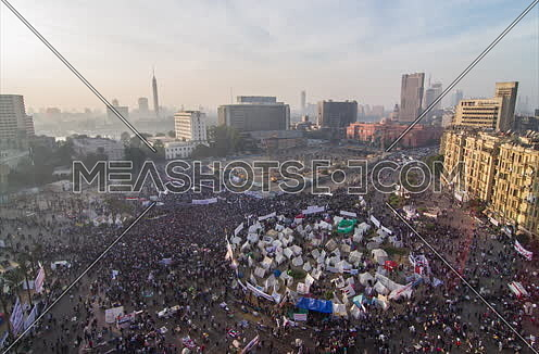 Fixed Top Shot for Tahrir Square from Day to Dusk