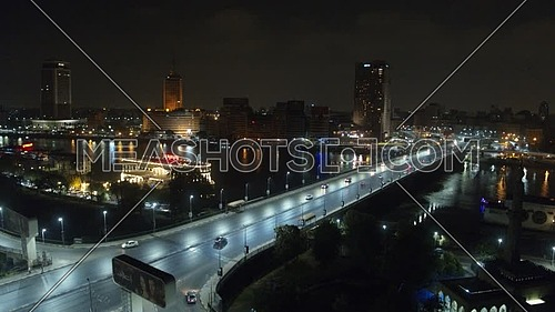 6 October Bridge with Nile river at Night, shoot on Inspire 2 with X5S