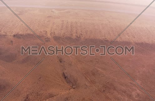 Aerial Shot for the Desert at Giza at Day