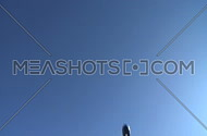 Commercial jet flies directly overhead (3 of 3)