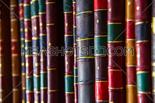 books in arabic language on a book shelf