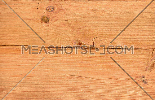 Unpainted lacquered pine wooden planks texture background close up