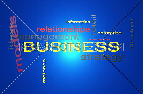 Business Strategy Management Word Cloud Text Animation