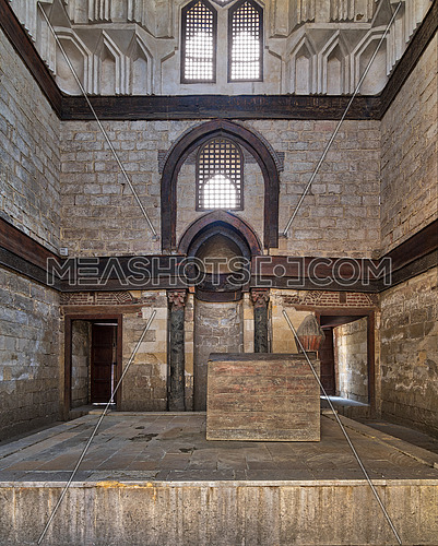 Interior of Mausoleum of al-Nasir Muhammad Ibn Qalawun, Al Muizz Street, Old Cairo, Egypt