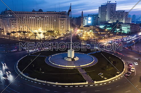 Zoom IN Shot for Tahrir Square from Day to Night