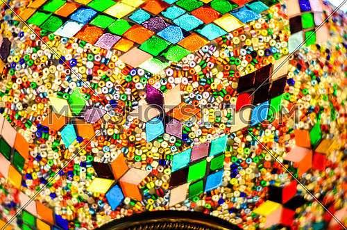 close up colorful lamp