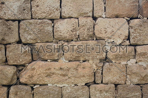 Just ancient brown stone wall