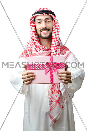 Young arab with giftbox