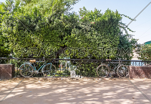 Bicycles at the Kornish of Aswan Egypt