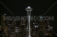 Downtown Seattle evening - Pan