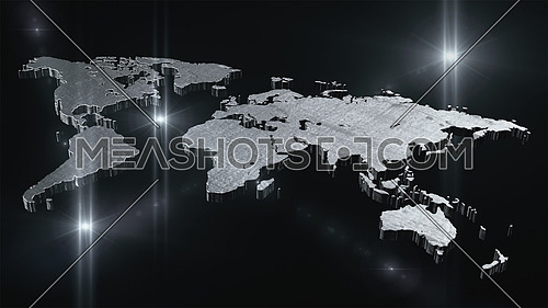 World map in space 3D render